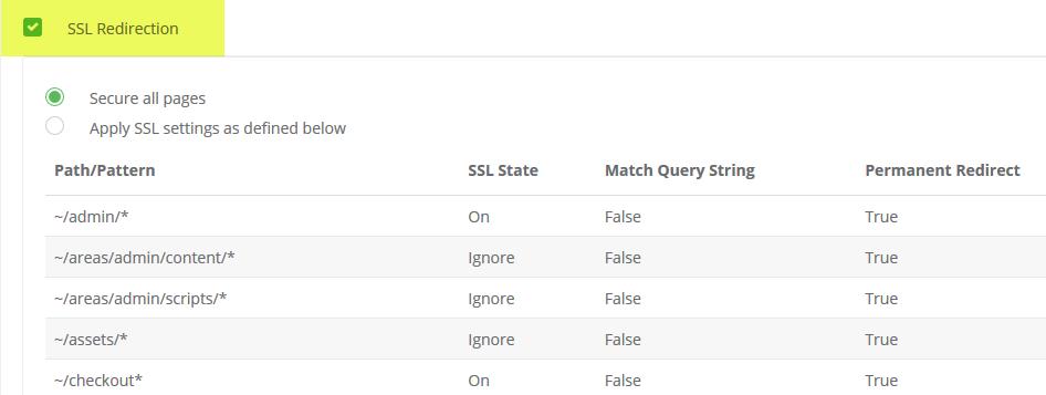 SSL Settings